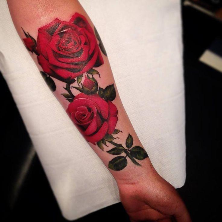 Тату роз 663 лучших фото татуировок 2018 года - KissMyTattoo