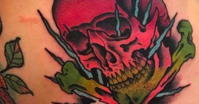 skull on tattoo
