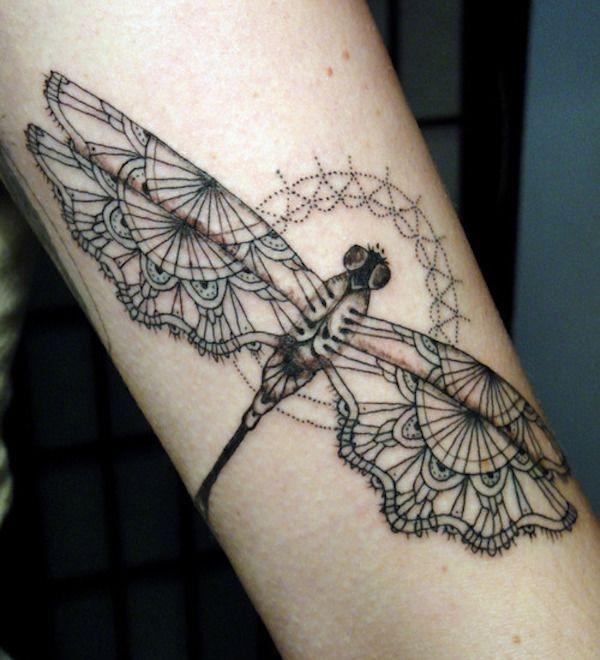 Тату стрекоза. Фото и значение on-tattoo каталог