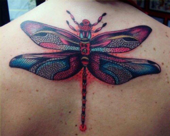 красивая Тату стрекоза. Фото и значение on-tattoo