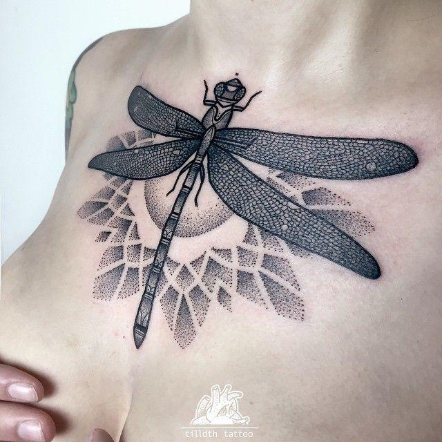 Тату стрекоза. Фото и значение on-tattoo цветок жизни