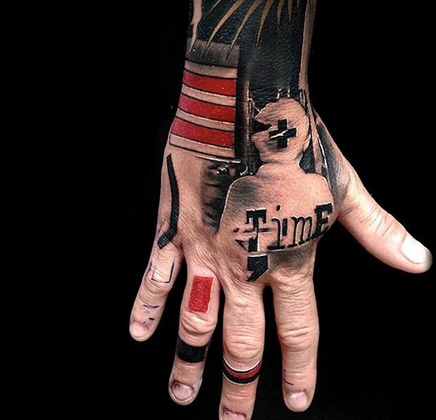 тату треш полька фото каталог tattoo трэш-полька картинки чб татуировки на руке