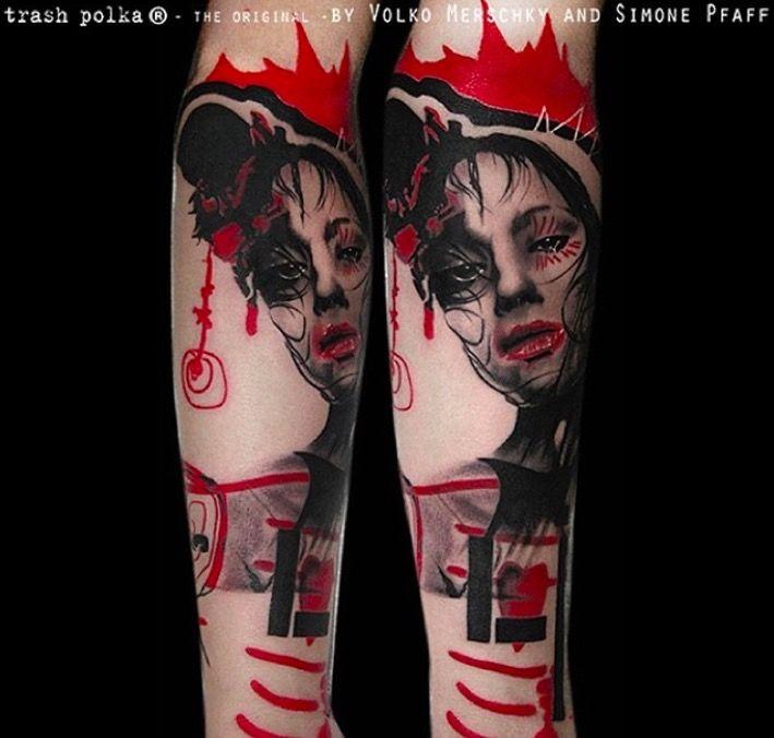 тату треш полька фото каталог tattoo трэш-полька картинки чб татуировки