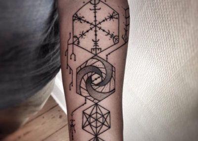 Тату фото:РуническийкомпасВегвизирon tattoo