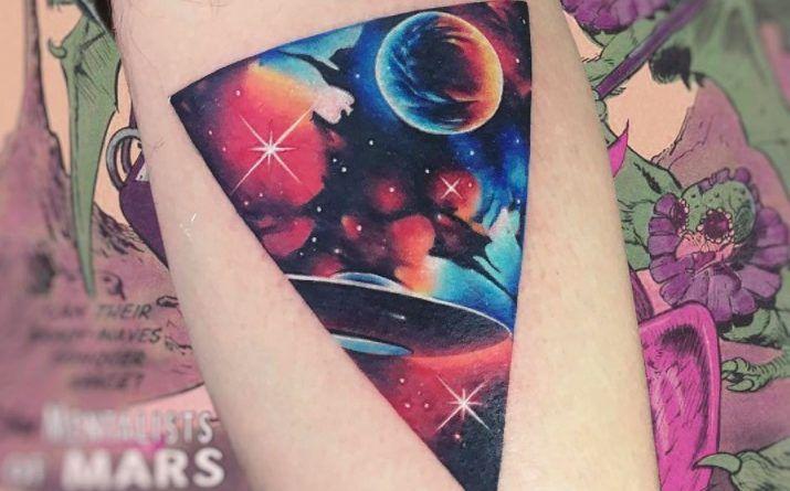 watercolor galaxy tattoo