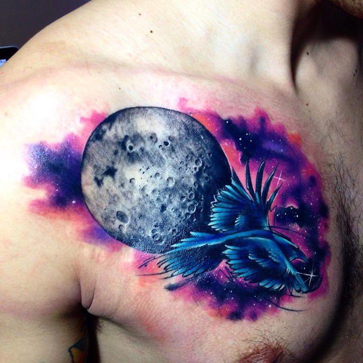Акварельные татуировки тату-художника Adrian Bascur, фото