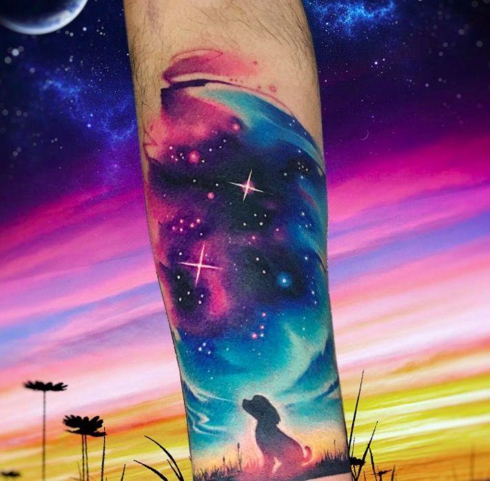 Акварельные татуировки тату-художника Adrian Bascur, фото картинка