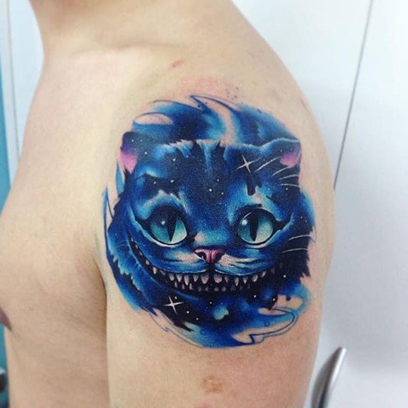 Акварельные татуировки тату-художника Adrian Bascur, фото кот