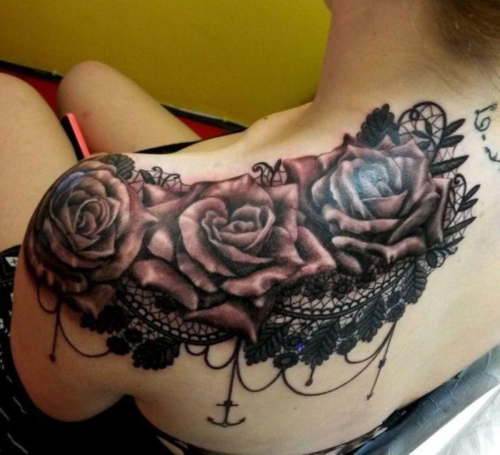 на плече тату кружева для девушек фото каталог татуировок