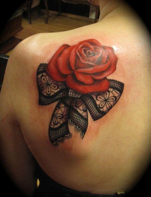 роза тату кружева для девушек фото каталог татуировок