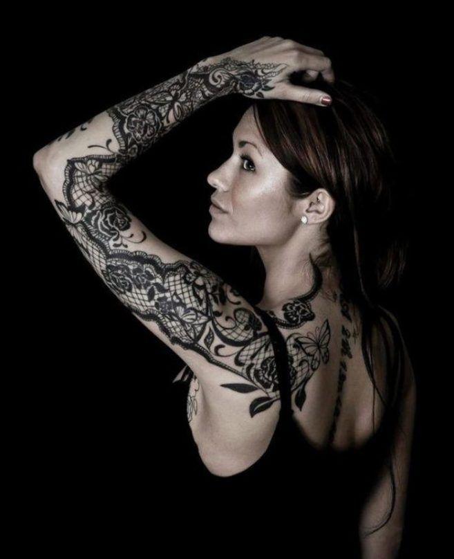 тату кружева для девушек фото каталог татуировок рукав