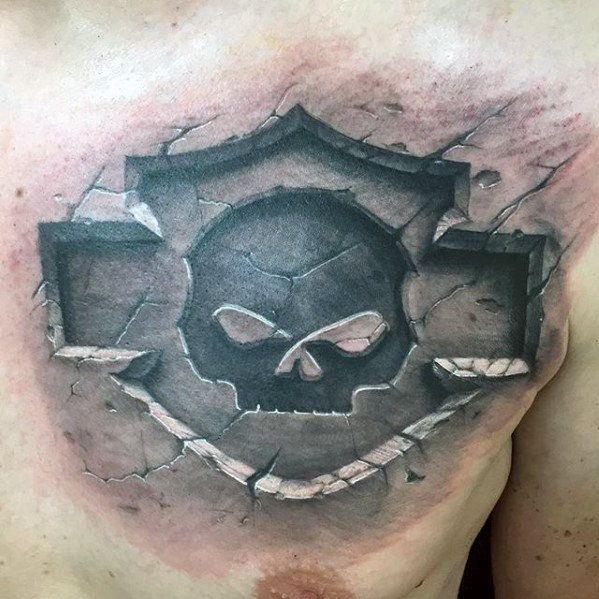d chest on tattoo foto