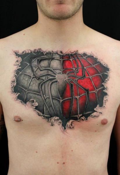 3D дизайн татуировки на груди фото