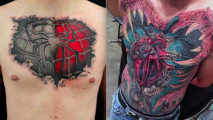 3d chest tattoo foto wow