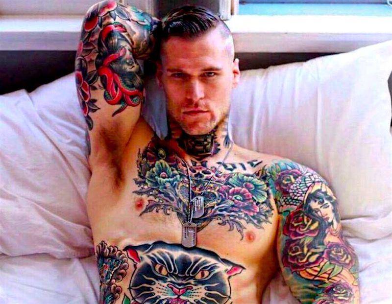 тату модель маршалл перрин из канады фото on-tattoo