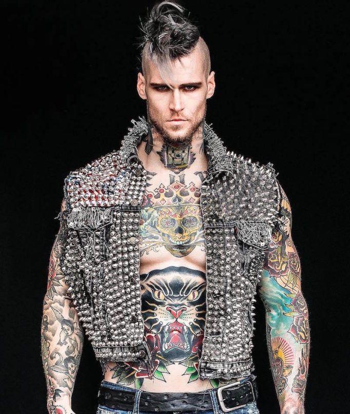 Маршалл Перрин – модная татуированная модель и звезда социальных сетей