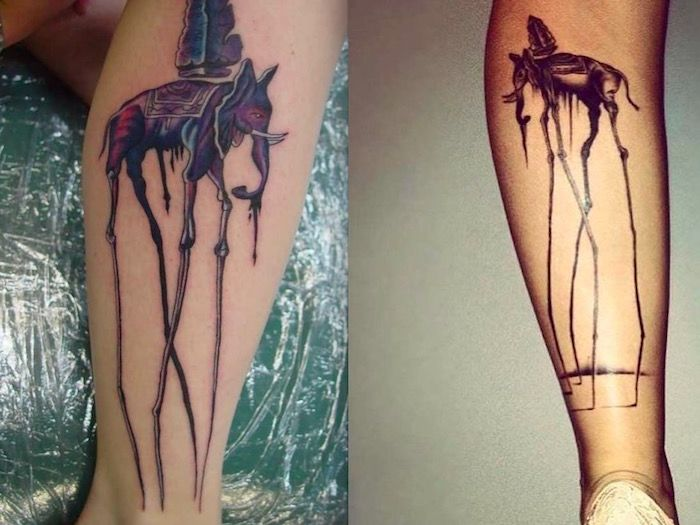 татуировки слонов Сальвадора Дали