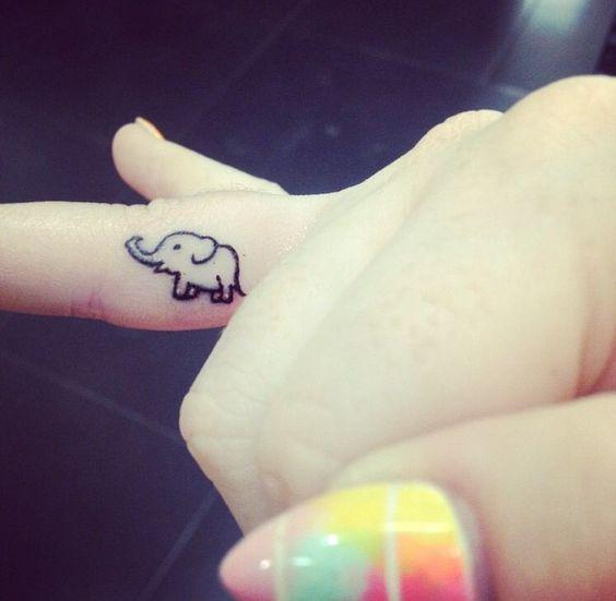 фото тату на пальцах on-tattoo слон