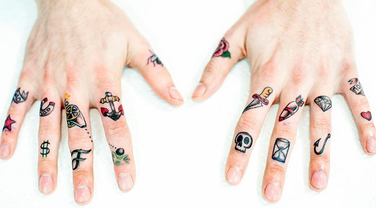 фото тату на пальцах on-tattoo