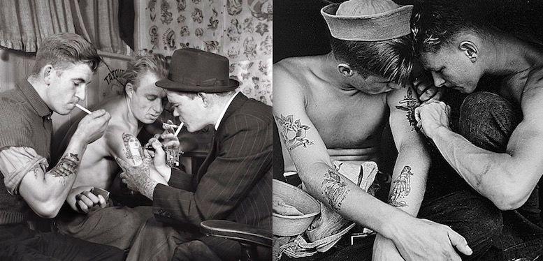 моряки делают татуировку в 1942 году