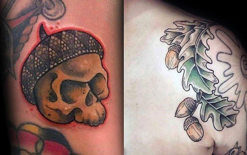 Желудь – это небольшая татуировка с большим смыслом