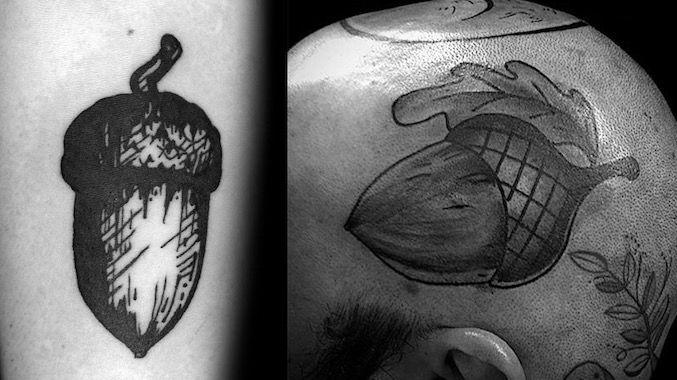 Желудь – это небольшая татуировка с большим смыслом.