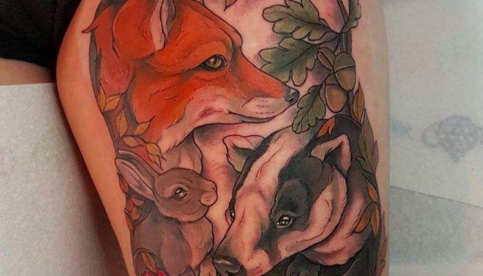 Татуировки с животными мастера Aimee Bray