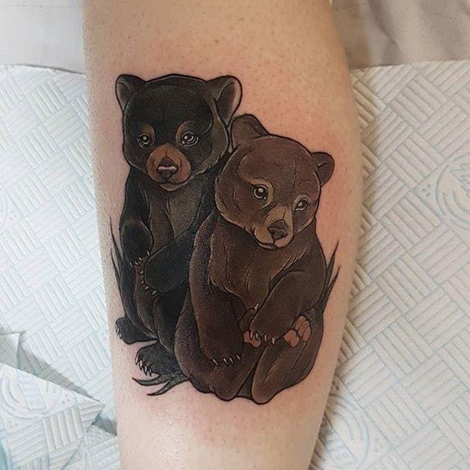 тату животные фото медведи