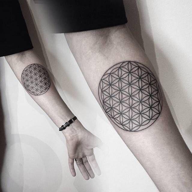 Татуировки Цветка Жизни - Символа Человеческого Сознания
