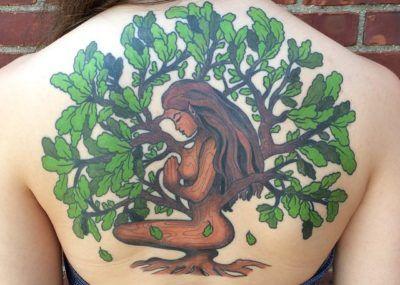 full back oak tree tattoo