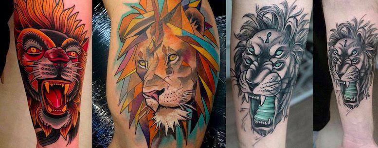 Что говорит о вас татуировка льва? Lion-on-tattoo