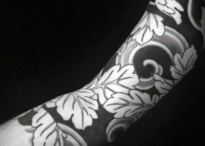 татуировка дуб рукав