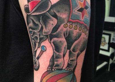 тату цирковой слон