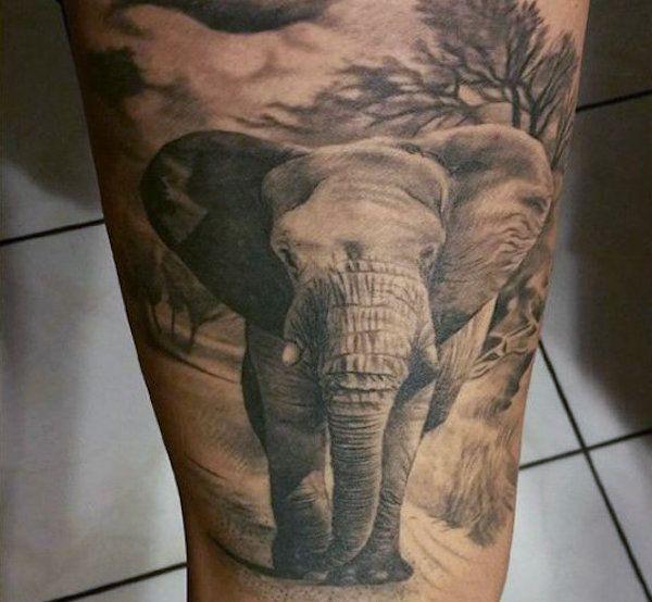 каталог татуировок 100 фото тату слон