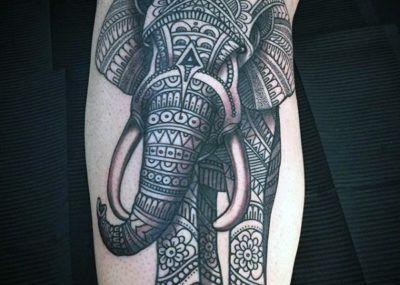 тату индийский слон