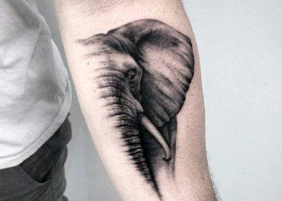 тату слон мини