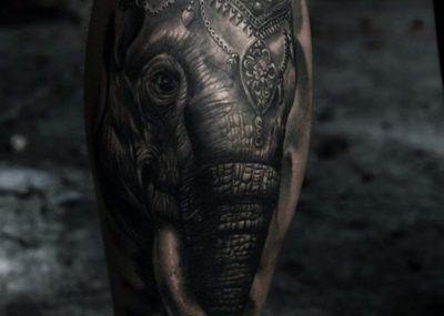 тату слон