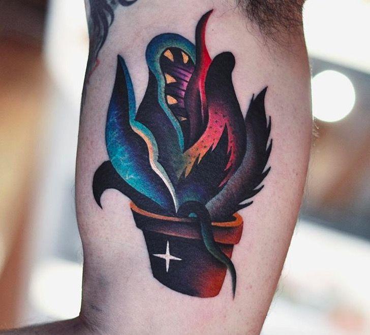 david cote psychedelic tattoo foto