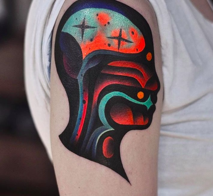 david cote psychedelic tattoo foto