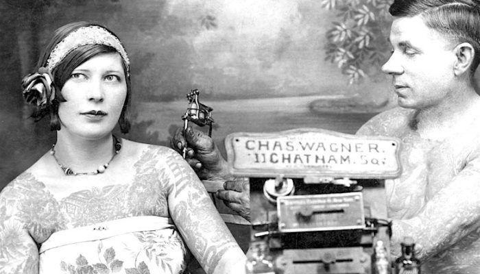 20 винтажных фото татуированных женщин с 1890-х по 1960-е годы