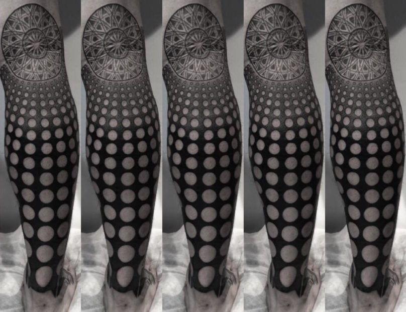 Геометрические тату мастера Nissaco фото
