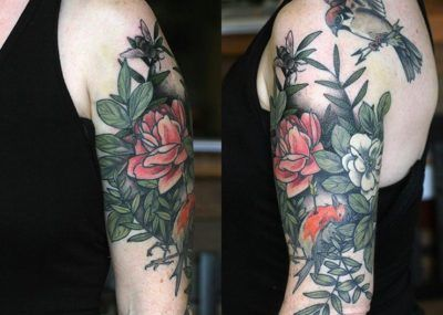Тату цветы мужские на руке