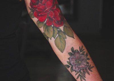 Тату цветы роза