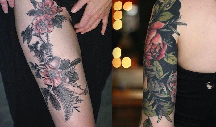 ботанические татуировки фото