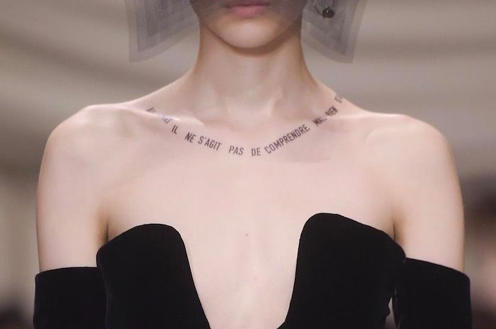 Dior Couture tattoo photo