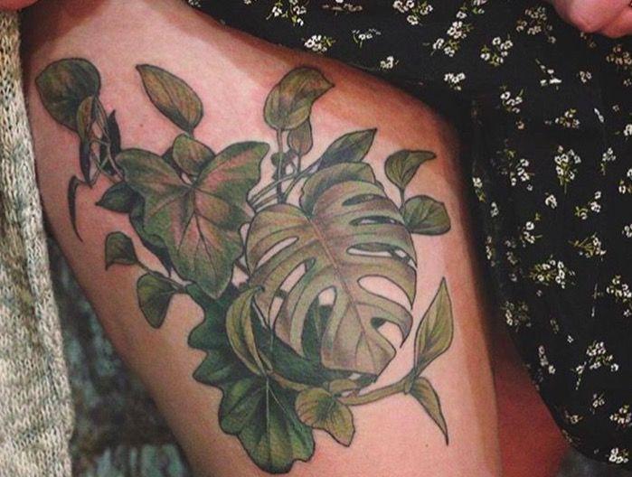 ботанические татуировки