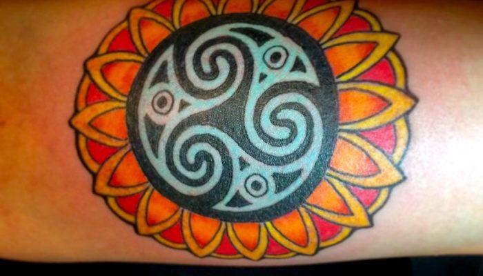 Трискелион в татуировках (фото)