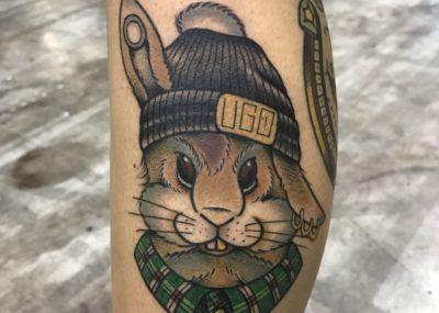 Тату кролик UGO