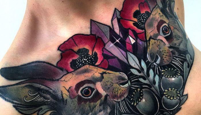 Кролик в татуировках