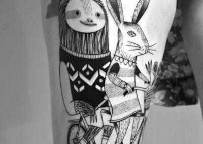 Тату кролик из сказки
